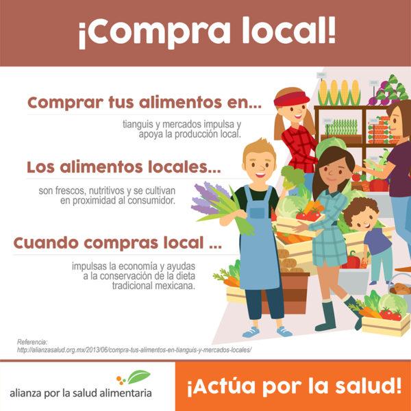 Infografía Compra tus alimentos en tianguis y mercados locales