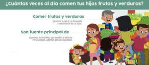 Incrementa el consumo de frutas y verduras de tus hijos