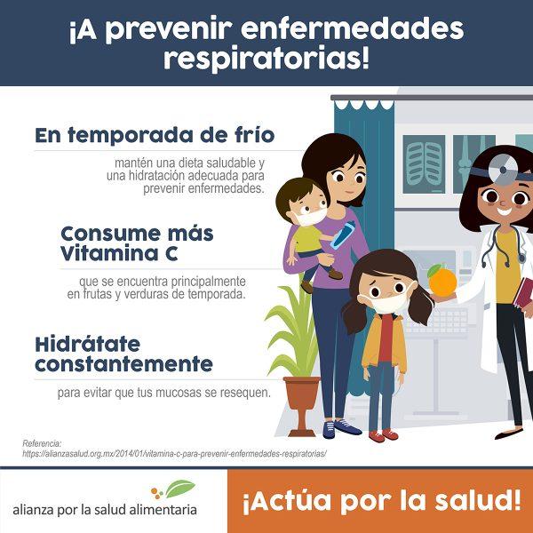 Infográfico ¡A prevenir enfermedades respiratorias!
