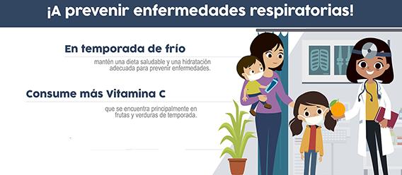 Fragmento del infográfico ¡A prevenir enfermedades respiratorias!