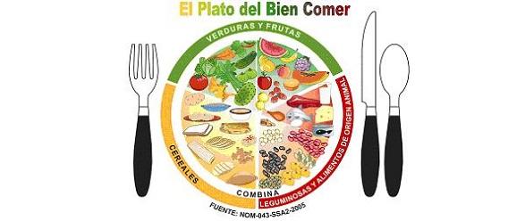 Ilustración del plato del bien comer