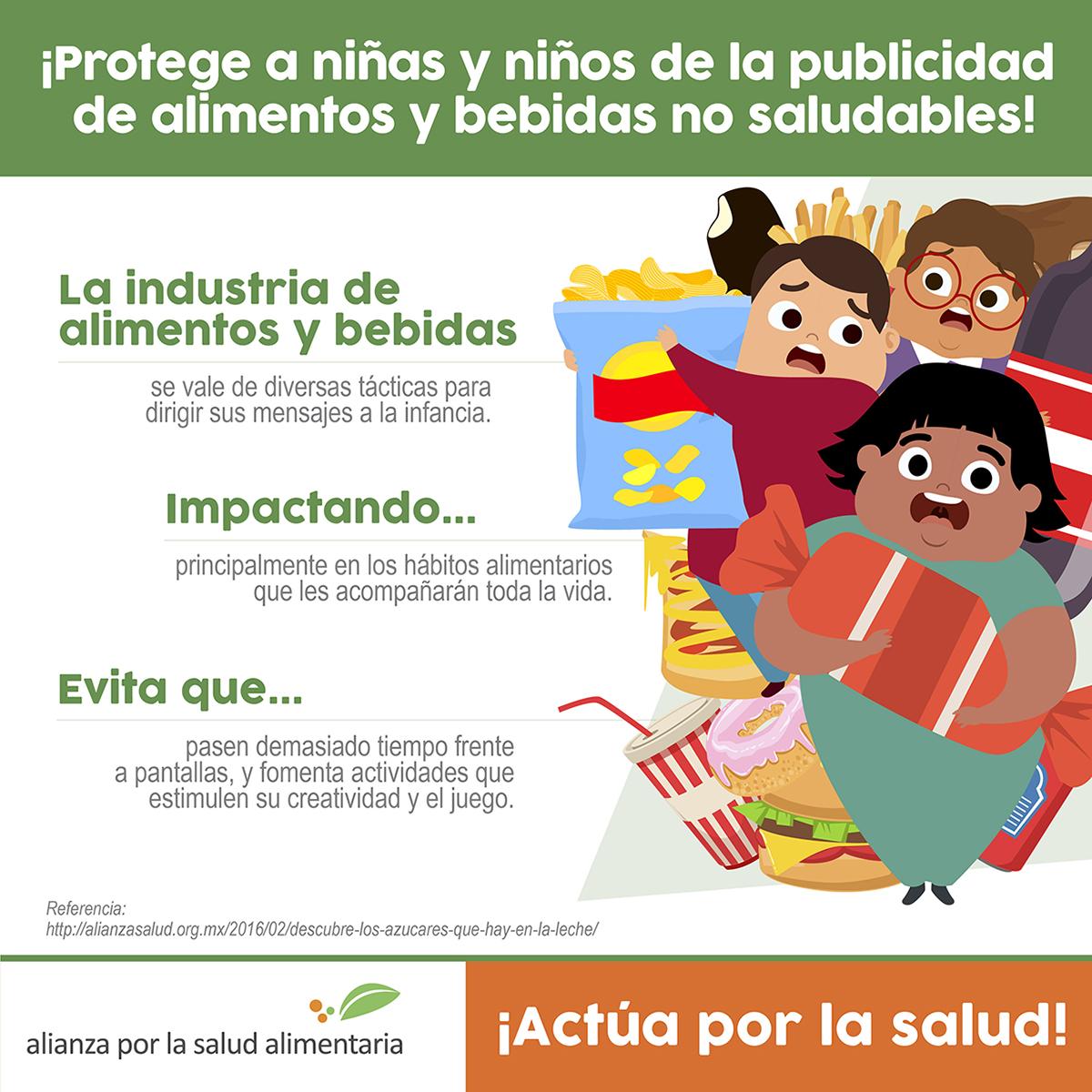 Protege a niñas y niños de la publicidad de alimentos y bebidas no  saludables! - Alianza por la Salud Alimentaria