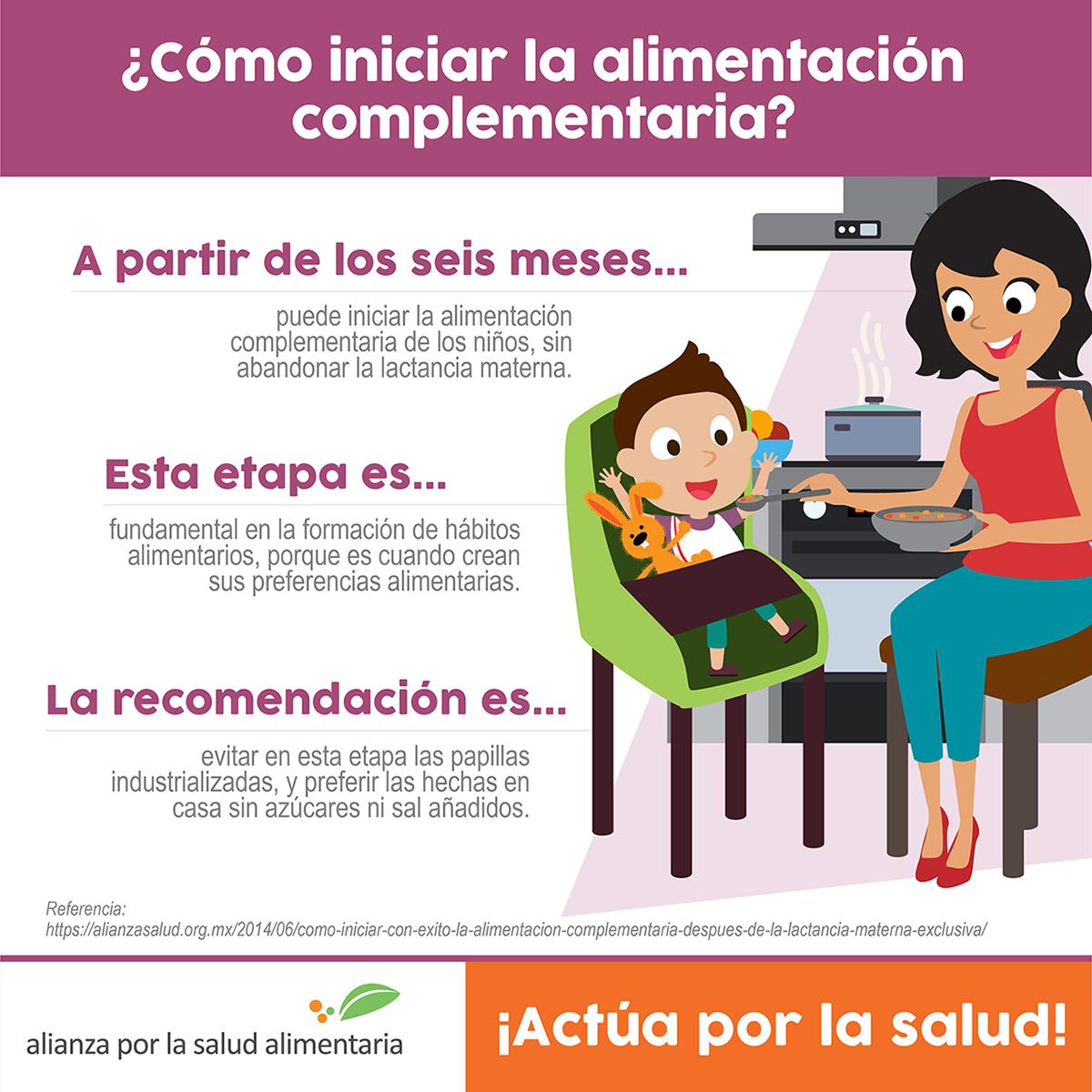 dieta de comida para bebe de 6 meses