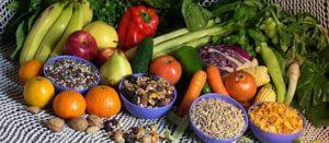 Alimentos naturales (semillas, frutas y verduras)