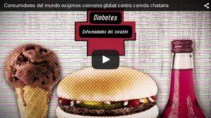 Consumidores del mundo exigimos convenio global contra comida chatarra