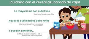 ¡Cuidado con el cereal azucarado de caja!