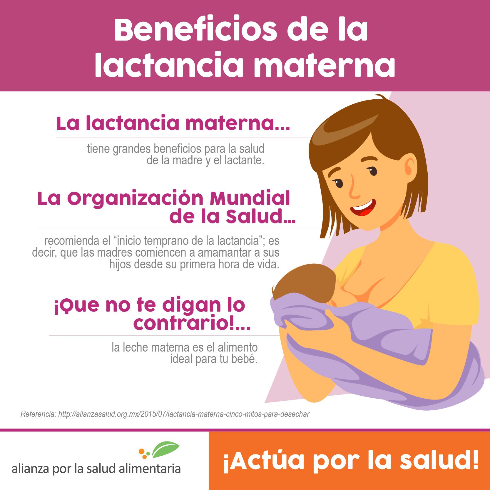 Lactancia materna cinco mitos para desechar alianza por la salud alimentaria alianza por la - Alimentos para producir leche materna ...