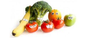 ¡Incrementa el consumo de frutas y verduras en los niños!