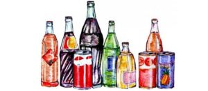 Dibujo de bebidas azucaradas (refrescos y jugos)