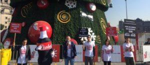 Demandamos retirar publicidad de Coca-Cola del árbol de navidad del Zócalo, pedimos congruencia frente a la emergencia epidemiológica por obesidad y diabetes