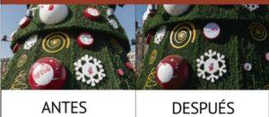 Retiran publicidad de Coca-Cola del árbol de navidad del Zócalo de la CDMX ante protestas
