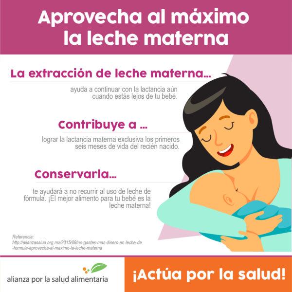 Infografía Aprovecha al máximo la leche materna