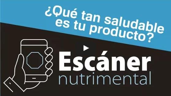 """Cómo usar la aplicación """"Escáner nutrimental"""""""