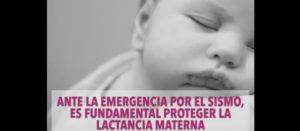 Academia y organizaciones sociales exigimos a la Secretaría de Salud promover la lactancia materna en zonas damnificadas