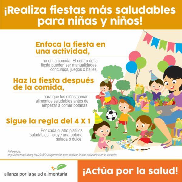 fiestas saludables para niñas y niños