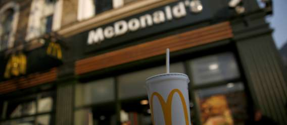 McDonald's vaso y logo