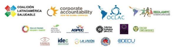 Logos organizaciones civiles latinoamericanas que suscriben este comunicado