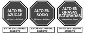 Perú octágonos de advertencia en etiquetado de alimentos y bebidas