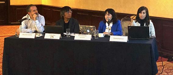 Panel de presentación de estudio en conferencia de prensa