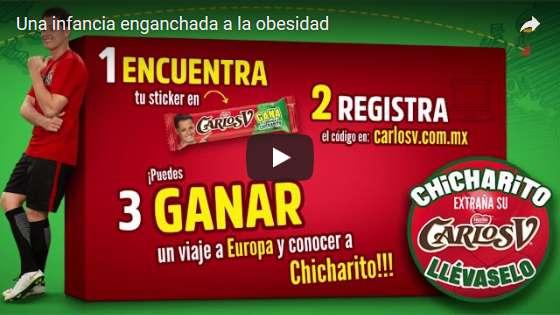 """Portada del video """"Una infancia enganchada a la obesidad"""", de la Alianza por la Salud Alimentaria"""