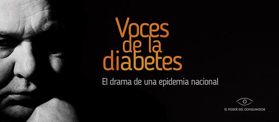 Portada Voces de la diabetes. El drama de una epidemia nacional