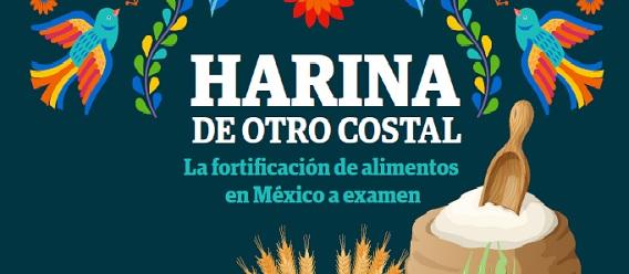 """Fragmento de la portada del documento """"Harina de otro costal: La fortificación de alimentos de México a examen"""""""
