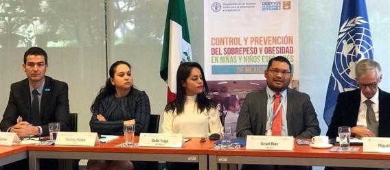 Presentación del libro de la FAO: Buenas prácticas para el control y la reducción del sobrepeso y la obesidad en escolares: casos en escuelas primarias de México