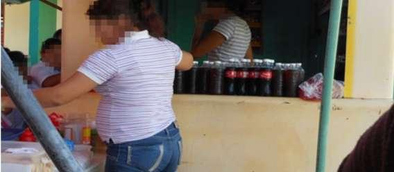 Cooperativa con presencia de comida y bebidas chatarra en una escuela primaria públuica de Mérida, Yucatán