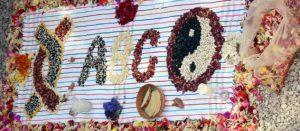 Arreglo con flores y semillas de la Red Agricultura del Bien Común (Red ABC)