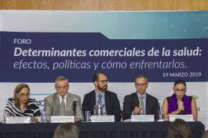 Panel del foro Determinantes comerciales de la salud: efectos, políticas y cómo enfrentarlos, realizado el 19 de marzo de 2019 en la Ciudad de México