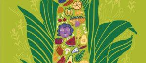 Fragmento de ilustración de una milpa como fuente de alimentos producidos por familias campesinas en México