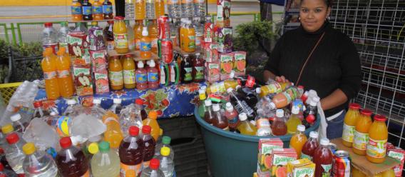 Una vendedora de refrescos en Ciudad de México.