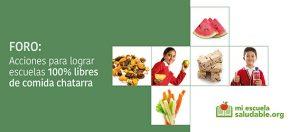 Ante la falta del cumplimiento de la regulación que prohíbe la venta de comida chatarra en escuelas, lanzan la campaña: Escuelas 100% libres de comida chatarra