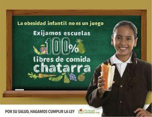 Imagen de la campaña Escuelas 100% libres de comida chatarra