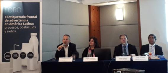 Foro Etiquetado frontal de advertencia en América Latina, con la participación de expertos latinoamericanos involucrados en la creación de la Ley de Etiquetado en Chile y Perú