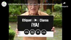 Portada del video Los ciudadanos explican por qué queremos un #EtiquetadoClaroYA