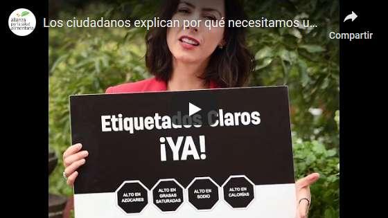 Portada del video Los ciudadanos explican por qué necesitamos un #EtiquetadoClaroYA