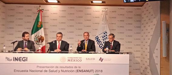 Presentación de la Encuesta Nacional de Salud y Nutrición (Ensanut) 2018 por parte del Inegi y la Secretaría de Salud