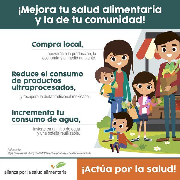 Infográfico ¡Mejora tu salud alimentaria y la de tu familia!