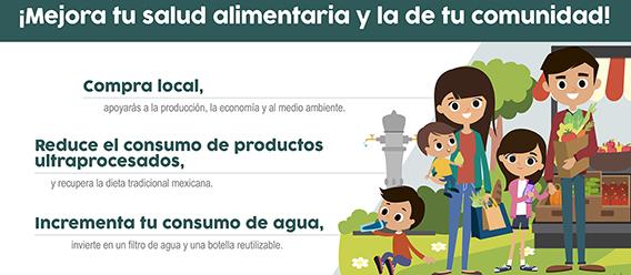 Fragmento del infográfico ¡Mejora tu salud alimentaria y la de tu familia!