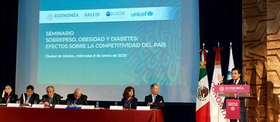 Panbel del Seminario Sobrepeso, Obesidad y Diabetes: Efectos sobre la competitividad del país