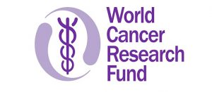 Logo y leyenda del World Cancer Research Fund (WCRF)