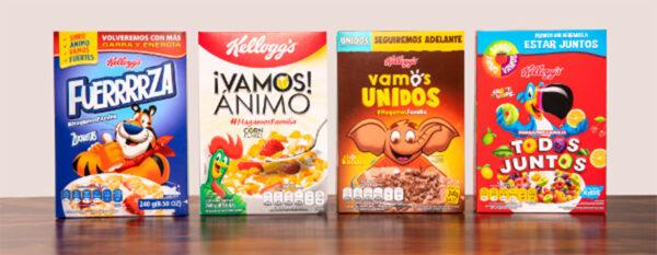 Cajas de cereal con diseños modificados durante la contingencia por COVID-19