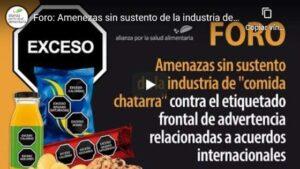"""Foro: Amenazas sin sustento de la industria de """"comida chatarra"""" contra el etiquetado frontal"""