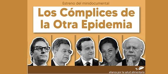 """Fragmento del banner del estreno del minidocumental """"Los Cómplices de la Otra Pandemia"""""""