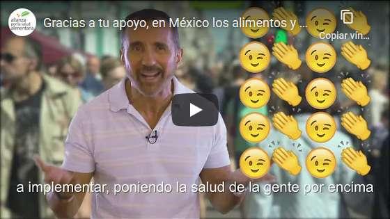 Portada del video Gracias a tu apoyo, en México los alimentos y bebidas llevan etiquetado frontal de advertencia