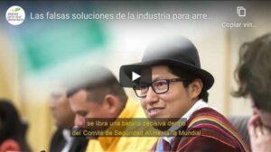 Portada del video Las falsas soluciones de la industria para arreglar los sistemas alimentarios