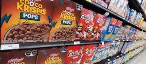 Etiquetado de advertencia en cereales de caja en el súper