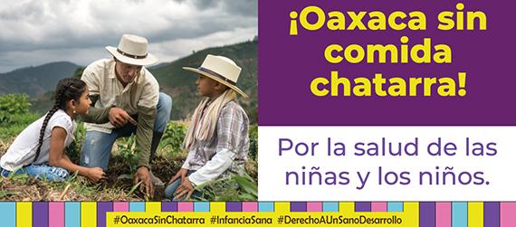 """Fragmento de uno de los carteles de la segunda etapa de la campaña """"Por el derecho a una vida sana, Oaxaca sin Chatarra"""""""