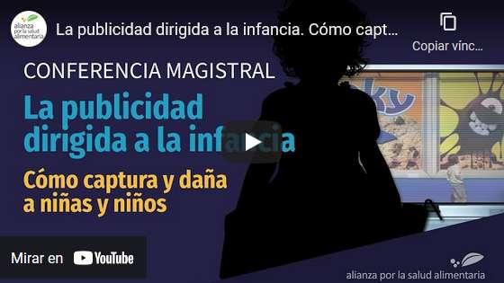 Portada del video La publicidad dirigida a la infancia. Cómo captura y daña a niñas y niños